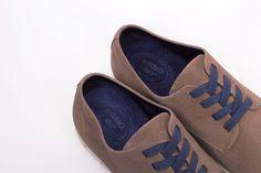 miMaO Urban S 360 Piedra - zapato cómodo hombre plano extraligero cómodo piel ante gris- Comfort men's flat shoes trainers navy blue leather extralight