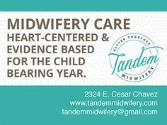 We thank our friends and sponsors at Tandem Midwifery providing comprehensive care during pregnancy, birth and postpartum, for their support of Austin Expecting!