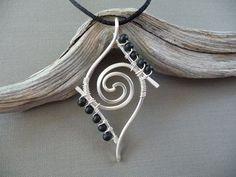 Wire Wrapped Jewelry, Silver Wrap Jewelry Pendant, Wire Jewelry, Wire Wrapped… … #wirejewelry