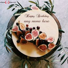 write name on pictures with eNameWishes by stylizing their names and captions by generating text on Fresh Fruit Cake with Name with ease.