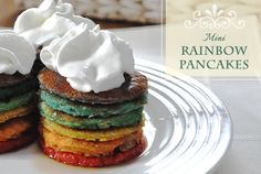 Rainbow Pancakes on Pinterest | Pancakes, Rainbow Cakes and Rainbow ...