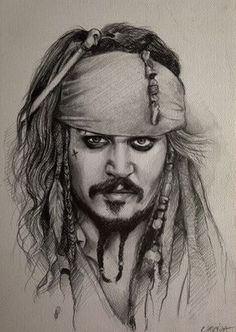 Piraci z Karaibów Portret Jack'a Sparrow'a Pirates of the Caribbean Drawing Captain Jack Sparrow Portrait (Johnny Depp) https://www.youtube.com/watch?v=U8Al3FO-jyc