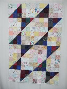 Half-Square Triangles quilted on LA 2015