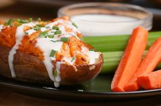 These Buffalo Chicken Potato Skins Will Leave You Speechless