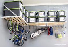 Home Renovation Garage Corner Quickstart Kit Garage Organisation, Garage Storage Solutions, Diy Garage Storage, Garage Shelving, Garage Shelf, Garage Doors, Garage Workbench, Storage Ideas, Garage Cupboards