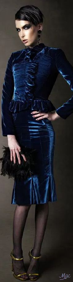Velvet Fashion, Shades Of Blue, Tom Ford, Decor Styles, Suits, Fall, Board, Color, Beautiful