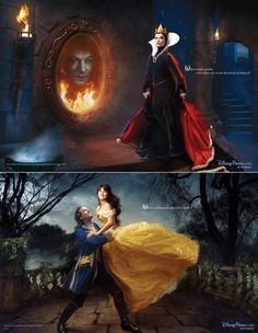 because belle is pretty and the beast becomes a prince.