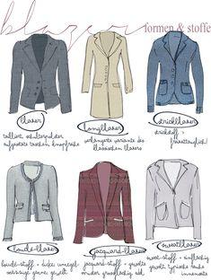 [mode einmaleins] Blazer Formen und Stoffe Fashion
