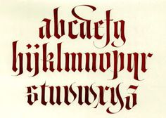 Calligraphy Alphabet : medieval calligraphy alphabet ~ plus lots of other alphabets to chose from.
