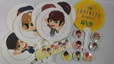 Paper fan set