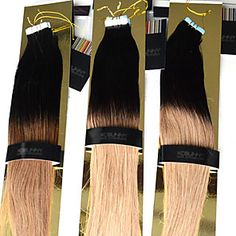 Brazilian Human Hair Tape Extensions Ombre Cheap Tape Hair Extensions 12