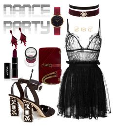 """""""Dance party"""" by manoumi ❤ liked on Polyvore featuring Alexander McQueen, Dolce&Gabbana, Oscar de la Renta, Yves Saint Laurent, Abbott Lyon and Charlotte Russe"""