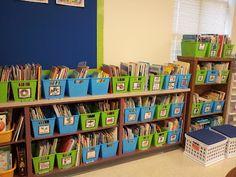 Chalk Talk: A Kindergarten Blog: My Finished Room... Classroom Design, Classroom Fun, Future Classroom, Teaching Jobs, Kindergarten Classroom, Teaching Ideas, Classroom Organization, Classroom Management, Book Bin Labels