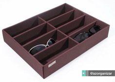 Organizador para óculos em veludo.
