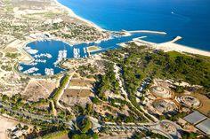 Aerial view of the marina and botanical garden Wirikuta (Right)