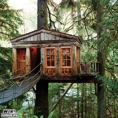 a treehouse, a free to be you and me house