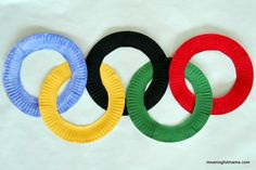 Paper Plate Olympic Rings