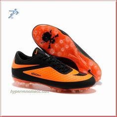 Football Cleats With Arch Support Nike Hypervenom Phantom AG Boots Black Orange