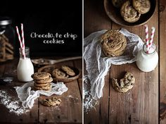 fantastic food styling and photography - Chocolate chip cookies by Call me cupcake, via Flickr