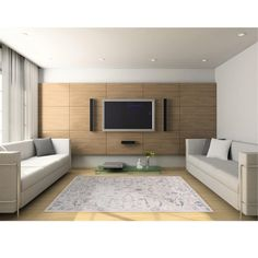 Check out our 71 pictures of stylish modern living room designs here. Huge variety, yet all are modern in design. Get inspired for your living room! Living Room Modern, Living Room Designs, Design Bleu, Media Room Design, Tapis Design, Acoustic Panels, Acoustic Wall, Rugs On Carpet, Hardwood Floors