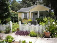 picket fence makes it charming