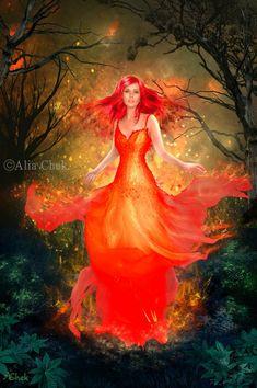 Goddess of Fire by AliaChek.deviantart.com on @DeviantArt
