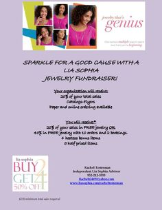 Looking for an awesome way to FUNDRAISE?? Lia Sophia has an awesome fundraising program that can raise you excellent money by purchasing beautiful jewelry! You get jewelry and the organization gets the cash! What could be better? Let me help you reach your fundraising goals!   www.liasophia.com/racheltesterman