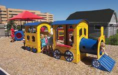 "Adorable Train Playground, ""Burke Express"" great for 2-5 year old kids Playgrounds - Miller & Associates - Sauk Prairie, Inc."