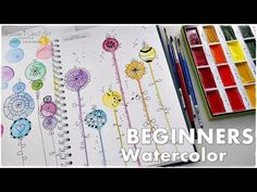 Easy Watercolor Flowers Tutorial for Beginners #3 ♡ Maremi's Small Art ♡ - YouTube
