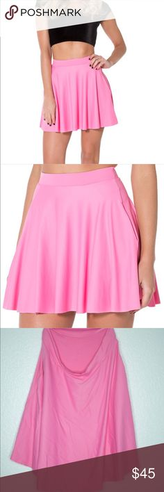BlackMilk Pink pocket skater skirt Black Milk pink skater skirt with pockets. Size XL. Originally paid $65. Worn twice for photo shoots, looks wrinkled in pics from sitting in my drawers. Sorry for the weird hanger pics I couldn't get my lighting to work!❗️️Also listed on d E p o p for less Blackmilk Skirts Circle & Skater