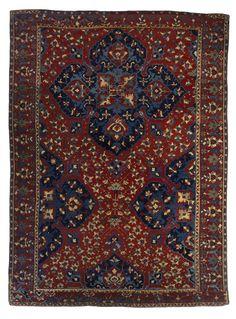 Large UŞAK carpet with quatrefoil medallion, 16th century.  Wool on wool; 302x 119 cm.  (Saint Louis Art Museum),