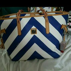 Chevron Dooney and Bourke Tote by Dooney and Bourke.  Great condition. Bags Totes