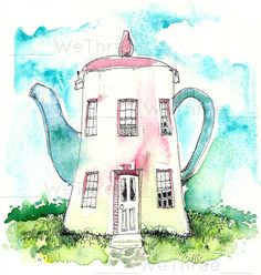 Teapot House Another pin for my cottage teapot collection, I do have a 2-story one.