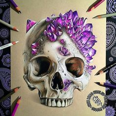 Repost from @motiveartco -  CRYSTAL SKULL  by artist @adbettley #supportart  #support #artists #worldwide #maco #motiveartco.