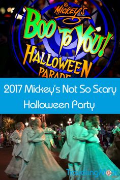 Mickey's Not So Scary Halloween Party dates have been announced for 2017. This is a great family fun event to add to your fall Disney vacation.