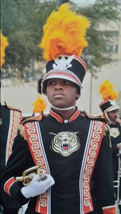 My son with Grambling State University Band.