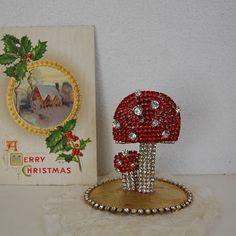 チェコガラスのクリスマスツリーキノコ