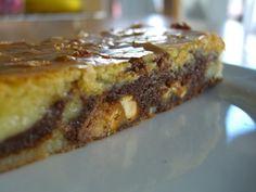 Zebrastribet brownie/blondie/candybar-kage! Det lyder som mad man ellers kun får i himlen!