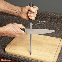 Touch Up a Knive With a Honing Steel - You've probably seen chefs on cooking…