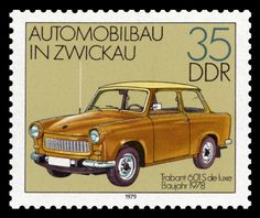 Tabant auto (East Germany) supposedly one of the most poorly-constructed cars ever made. But cute!