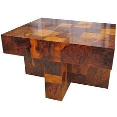 Paul Evans Burled Wood Side Table ca. Late 60's