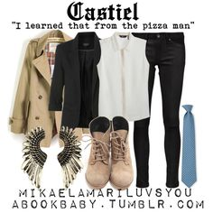 """Castiel"" by mikaelamariluvsyou on Polyvore"