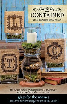 Glass and burlap