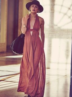 Go endless summer with this burnt sienna maxi dress.
