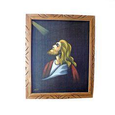 Velvet Jesus Painting by Modern Jelly