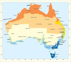 Map of Australian climate zones