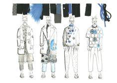 Fashion Sketchbook - fashion illustrations; line up; fashion portfolio // Heidi Stuttard
