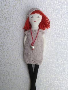 Fabric dollDress up doll Handmade cloth doll doll set play