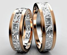 His and Hers Wedding BandsMatching Wedding Bands от Vidarjewelry #HisandHersDiamondWeddingRingSets