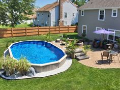 Large semi inground pool our house pinterest for Club piscine pool heater